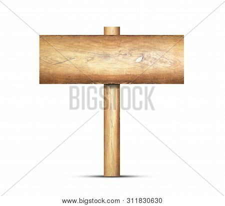 Old Wooden Signs Isolated On A White Background