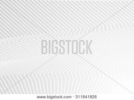 Minimal Grey Hi-tech Background With Refracted Lines. Vector Design
