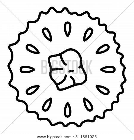 Cutted Soursop Icon. Outline Cutted Soursop Icon For Web Design Isolated On White Background