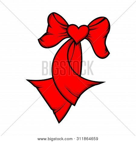 Tie Heart Icon, Ribbon Tie Icon Eps10, Ribbon Tie Icon Vector, Ribbon Tie Icon Eps, Ribbon Tie Icon