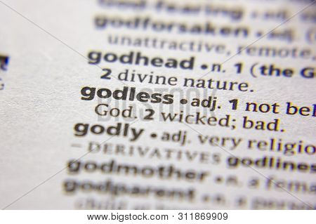 Word Or Phrase Godless In A Dictionary