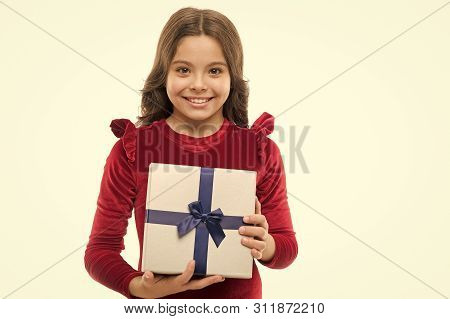Birthday Girl Carry Present With Ribbon Bow. Art Of Making Gifts. Birthday Wish List. What Is Inside