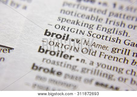 Word Or Phrase Broil In A Dictionary