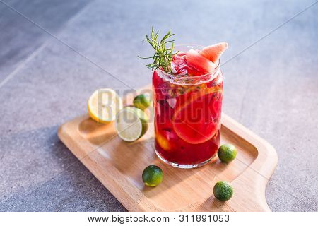 Perfume Fruit Tea In A Clean Tall Glass