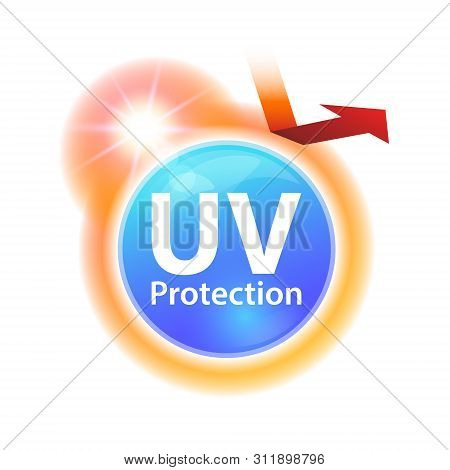 Icons Protect Against Uv Rays From Sunlight, Reflect Uva And Uvb Rays. Use To Advertise Sunscreen, L