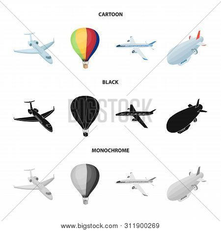 Isolated Object Of Transport And Object Logo. Collection Of Transport And Gliding Stock Symbol For W
