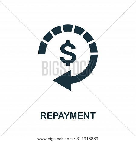 Repayment Vector Icon Symbol. Creative Sign From Investment Icons Collection. Filled Flat Repayment