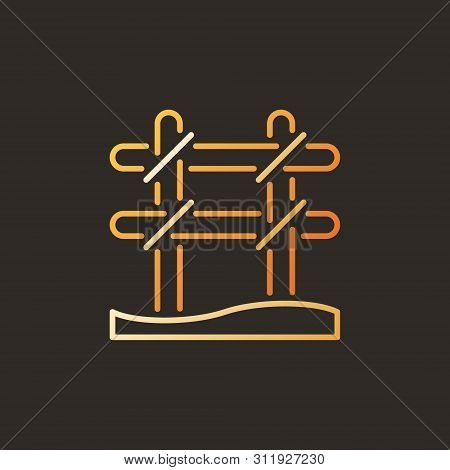 Rebar Binding Vector Colorful Outline Icon Or Logo On Dark Background