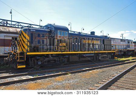 Scranton, Pa, Usa - Aug 7, 2010: Delaware, Lackawanna Railroad Dl 4068 Is A Alco Rs3 Diesel Locomoti