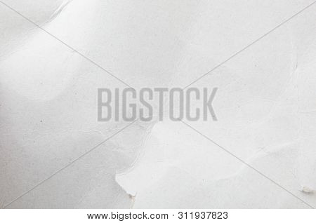 Close-up Of White Cardboard Texture Background. Stock Image.