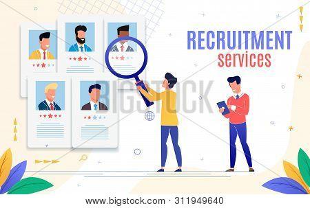 Advertising Flyer Is Written Recruitment Service. Poster Modern Methods Recruitment. Large Selection