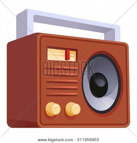 Retro Old Radio Icon. Cartoon Of Retro Old Radio Icon For Web Design Isolated On White Background