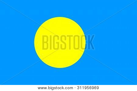 Flag of Palau vector illustration worlds flags collection poster