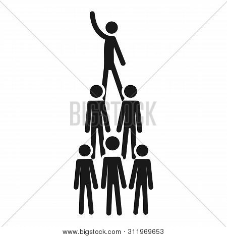 People Cohesion Pyramid Icon. Simple Illustration Of People Cohesion Pyramid Icon For Web Design Iso