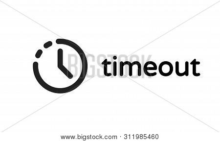 Timeout Icon, Web Page Error And 404 Session Time Out Vector Sign