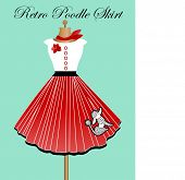 Retro poodle skirt poster