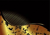 Illustrated golden background with room to add your own text poster
