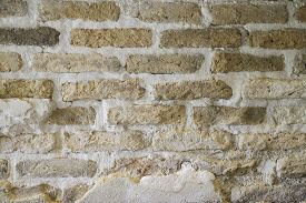 Old Red Brick Wall Background, Stock Photo