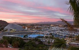 Cabo San Lucas, Mexico. Sunset View From Above.