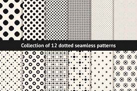 Polka Dot Patterns Collection. Vector Geometric Seamless Textures With Circles, Dots, Spots. Set Of