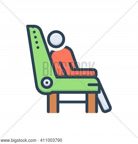 Color Illustration Icon For Comfort Relax Massage Recliner Rest Chair Rocking Furniture Armchair Com
