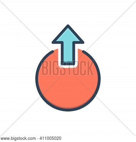 Color Illustration Icon For External Arrow Outer Exterior Outsider Security Share Hyperlink Adjustab