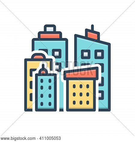 Color Illustration Icon For Direction Road Street Roadway Driveway Highway Path Walkway Route Journe