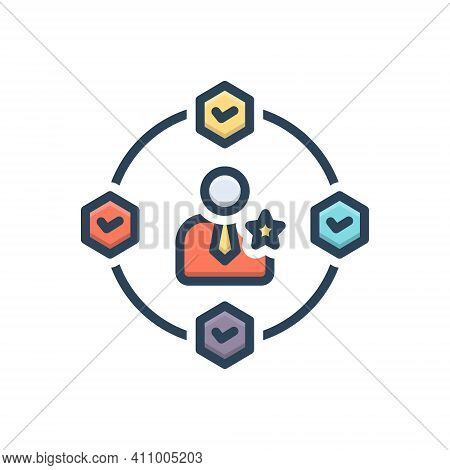Color Illustration Icon For Experience Involvement Know-how Ability Caliber Observation Capability P
