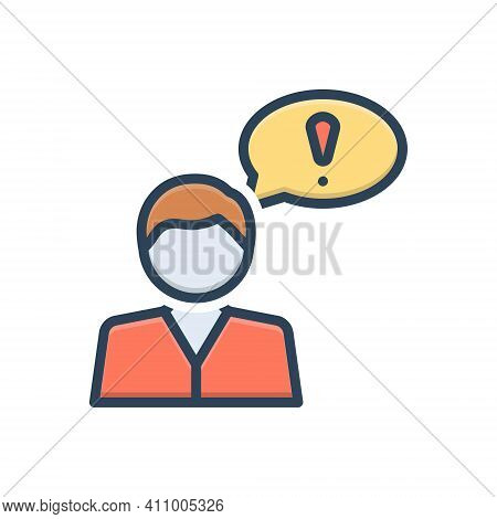 Color Illustration Icon For Suppose Believe Consider Opine Assume Idea Deem Person Thoughtful Bubble