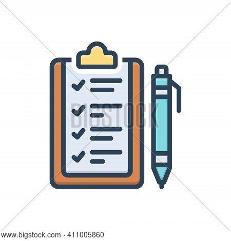 Color Illustration Icon For Rule Ordinance Guideline Prescript Method Guideline Concept Regulation A