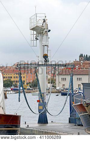 Crane For Yachts And Boats In Rovinj Marina