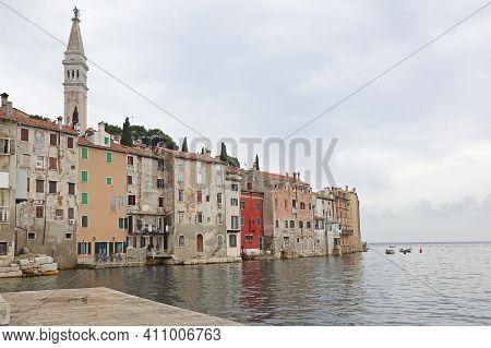 Rovinj Town In Croatia At Adriatic Sea