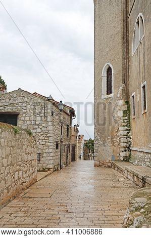 Old Stone Houses In Rovinj Town Istria Croatia