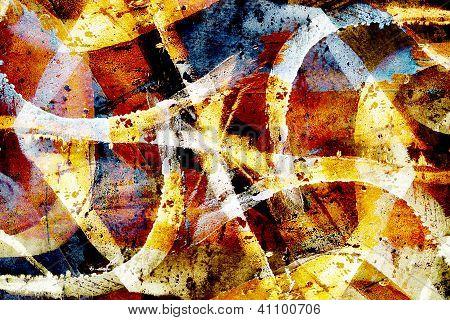 Close Up Grunge Graffiti Background