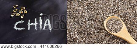 Salvia Hispanica - Chia Seeds With Omega 3 Capsules