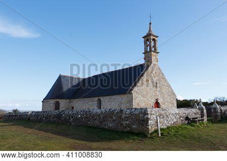 Outdoors Of Notre Dame De Bon Voyage Chapel In Plogoff