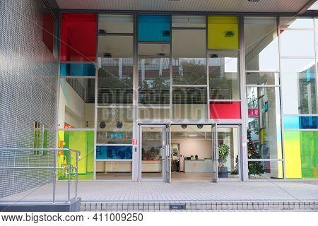 Taipei, Taiwan - December 3, 2018: National Taiwan University School Of Pharmacy In Taipei. National