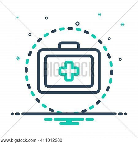 Mix Icon For Treatment Remedy Medical Medication First-aid-kit Safety Emergency-box Medicine Therape
