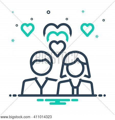 Mix Icon For Romantic Couple Heart Fall-in-love Love Emotion Dating Lovers Relationship Pertain Roma