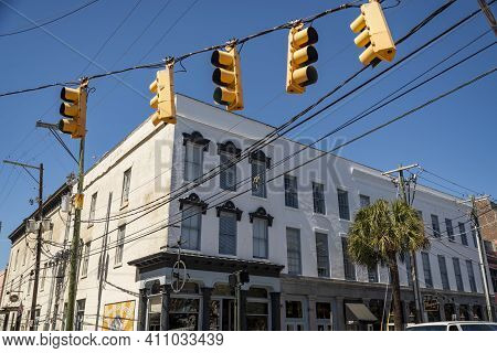 Charleston, South Carolina, Usa - March 28, 2019: The Historic Charleston City Market. As One Of The
