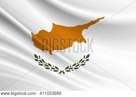 Flag Of Cyprus Fabric Texture Of The Flag Of Cyprus.