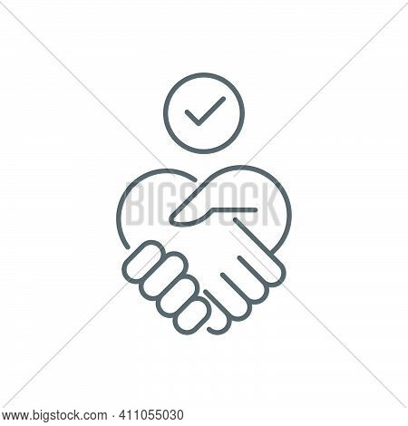 Trust Concept Icon, Color, Line, Outline Vector Sign, Linear Style Pictogram Isolated On White. Symb