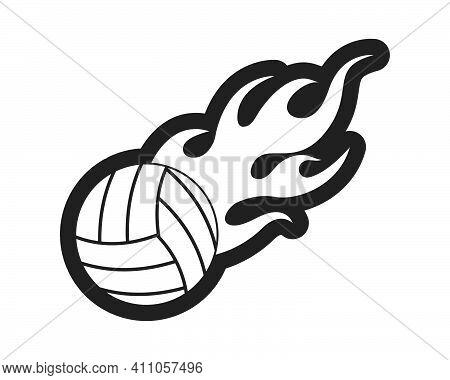 Volley Ball Vector Icon Illustration