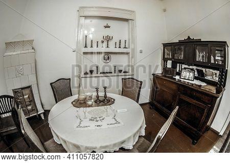 Sighetu Marmatiei, Romania - September 19, 2020: Interior Of The Elie Wiesel Memorial House. Born In