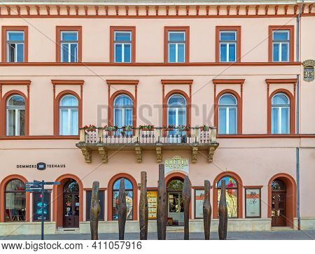 Cluj-napoca, Romania - September 20, 2020: Rhedey House, A Historic Building In The Central Square O