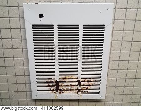Vent Or Heater With Rust Or Corrosion