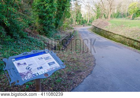 Holywell, Flintshire, Uk: Mar 2, 2021: A Former Disused Railway Branch Line Has Been Repurposed As A