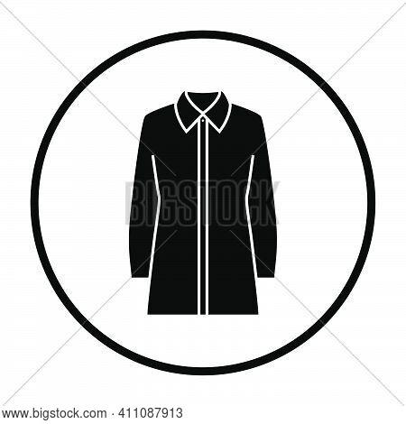 Business Blouse Icon. Thin Circle Stencil Design. Vector Illustration.