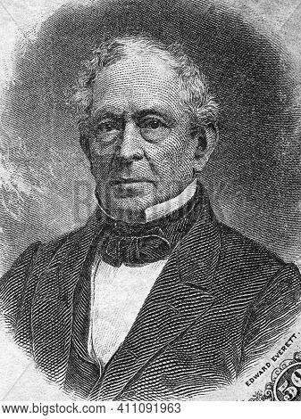 Edward Everett A Portrait From Old American Money