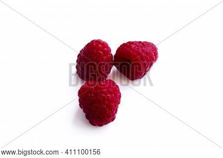 Raspberry. Raspberry Isolated. Raspberry On White Background.